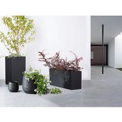 Doniczka czarna - ogrodowa - balkonowa - ozdobna - 120x50x55 cm - ORTA - produkt z kategorii- Doniczki i podstawki