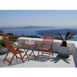 Meble ogrodowe - balkonowe - drewniane - stół z dwoma krzesłami - TOSCANA (7081453348171)