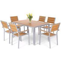 Meble ogrodowe HOME&GARDEN 537457 Salvador aluminiowe Srebrny + DARMOWY TRANSPORT!