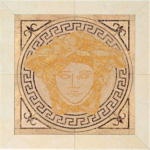 PALACE LIVING Rosoni Medusa in pietra Oro/Beige 41x41 (P83) (glazura i terakota)