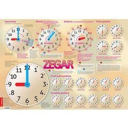 Zegar plansza edukacyjna na ścianę i biurko plus książeczka edukacyjna marki Demart