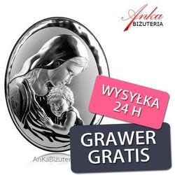 Obrazek srebrny Madonna z Dzieciątkiem Grawer Gratis, kup u jednego z partnerów
