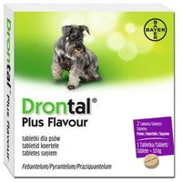 drontal plus flavour tabletki na odrobaczenie dla psów marki Bayer