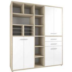 Regał biurowy set+ 216x191 cm, naturalny-biały, mdf, 16912446 marki Maja-möbel