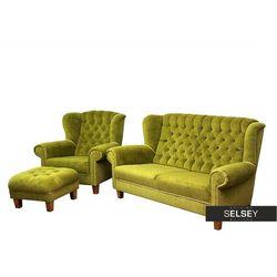 SELSEY Komplet wypoczynkowy Kumquat sofa i fotel z podnóżkiem (5903025600611)