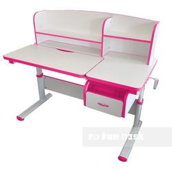 Creare Pink - Regulowane biurko dziecięce FunDesk