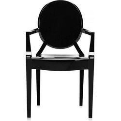 Krzesło Lou Lou Ghost nieprzeźroczyste lśniąca czerń