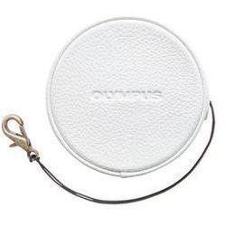 Olympus LC-60.5GL skórzana zakrywka do obiektywu 60,5 mm - biała - produkt z kategorii- Dekielki do obiektyw