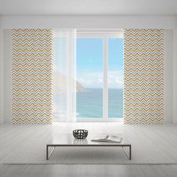 Zasłona okienna na wymiar - TRENDY ZIGZAGS GOLD II