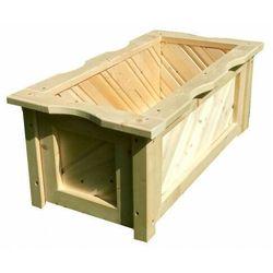 Drewniana prostokątna donica do ogrodu 15 kolorów - Loria, Donica-drewniana-nr-4