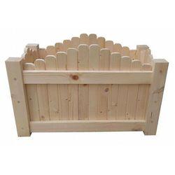 Drewniana prostokątna donica ogrodowa 6 rozmiarów - satina marki Elior