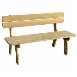 Drewniana ławka ogrodowa abder - brązowa marki Elior