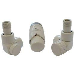 Instal-projekt Grzejnik  603700063 zestawy łazienkowe lux gz ½ x złączka 15x1 stal osiowo lewy biały