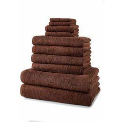 Komplet ręczników (10 części) bonprix czekoladowy