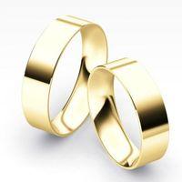 Klasyczne obrączki płaskie 6mm pr. 585 (komplet) - produkt z kategorii- Obrączki ślubne