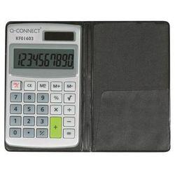 Q-connect Kalkulator 10-cyfrowy, 73x118mm, etui, szary