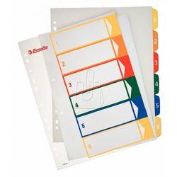 Przekładki ESSELTE plastikowe z PP do nadruku 1-6 A4 numeryczne kolorowe, ES785