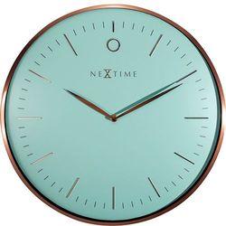 Zegar ścienny Glamour turkusowy by Nextime