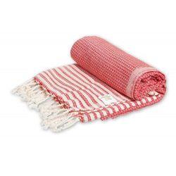 Import Sauna łażnia - hammam ręcznik 100% bawełna stripy 7 czerwony