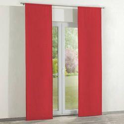 zasłony panelowe 2 szt., czerwień, 60 × 260 cm, jupiter marki Dekoria