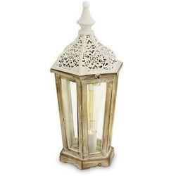 Stojąca LAMPKA stołowa KINGHORN 49278 Eglo metalowa OPRAWA latarnia biała (9002759492786)