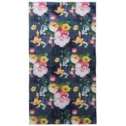 Elegancki ręcznik bawełniany plażowy z ozdobnym motywem kwiatowym, duży ręcznik luksusowy, , 100 x 180 cm marki Essenza