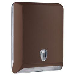 Pojemnik na ręczniki papierowe składane l  plastik brązowy od producenta Marplast