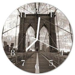 Zegar ścienny okrągły Most