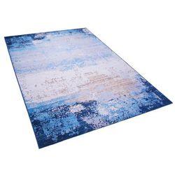 Dywan niebieski 140 x 200 cm krótkowłosy inegol marki Beliani