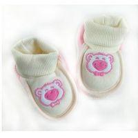 Miękkie buciki, skarpetki dla noworodka Różowe 0+