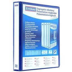 Segregator ofertowy DONAU, PP, A4/4RD/20, niebieski, 2788204PL-10
