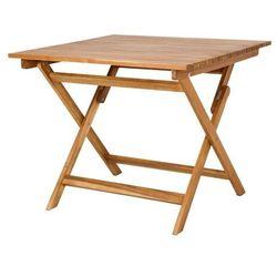 Goodhome Stół składany denia kwadratowy 90 x 90 x 75 cm