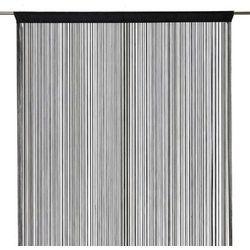 Firana sznurek 140 x 260 cm czarna (3663602684084)