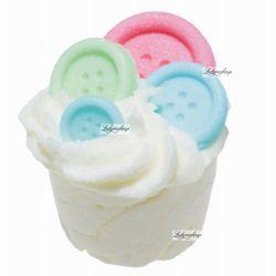 Bomb Cosmetics - Button Me Up - Kremowa, nawilżająca babeczka do kąpieli - GUZICZKOWO - produkt z kategorii