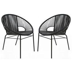 Vente-unique Zestaw 2 foteli ogrodowych kelios – włókno technorattanowe – kolor czarny
