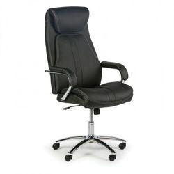 Krzesło biurowe ze skóry naturalnej Nexus, czarne