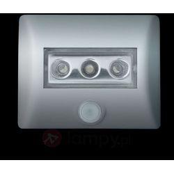 Lampka nocna z czujnikiem ruchu OSRAM 4008321985743, LED wbudowany na stałe, (DxSxW) 8.6 x 6.9 x 2.8 cm, srebrny (4008321985743)