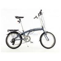 Mifa germany Aluminiowy rower składany składak mifa 7- biegów shimano z bagażnikiem, kolor antracyt