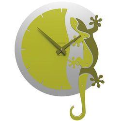 Zegar ścienny Geko Climbing CalleaDesign cedrowo-zielony, kolor zielony