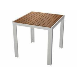 FLORABEST® Stół ogrodowy aluminiowy z drewnianym bl (4056233858020)