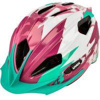 Kask rowerowy Uvex Quatro Junior biało-różowy - sprawdź w wybranym sklepie