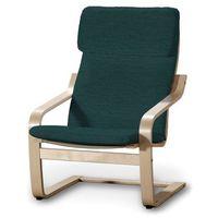 poduszka na fotel poäng, morska zieleń z czarną nitką, fotel poäng, living marki Dekoria