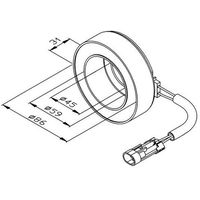 Cewka, sprzęgło elektromagnetyczne kompresora  38475 marki Nrf