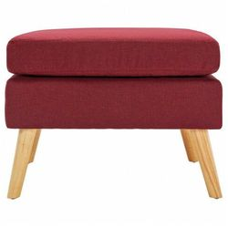 Czerwona pufa w stylu skandynawskim - Elesar