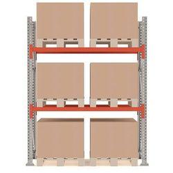Regał paletowy ULTIMATE, moduł podstawowy, 2500x1850x1100 mm, 6 palet, 1000kg/paleta, 23701