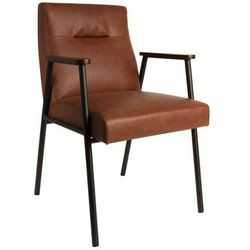 fotel fez brąz vintage 1200111 marki Dutchbone