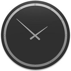 Zegar ścienny Tiffany Swarovski CalleaDesign czarny, kolor czarny