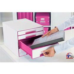 Leitz Pojemnik wow dwukolorowy z 4 szufladami różowo-biały 52131023