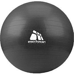 Piłka gimnastyczna Meteor 75 cm z pompką czarna 31134