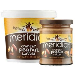 natural peanut butter crunchy 100% 280g od producenta Meridian